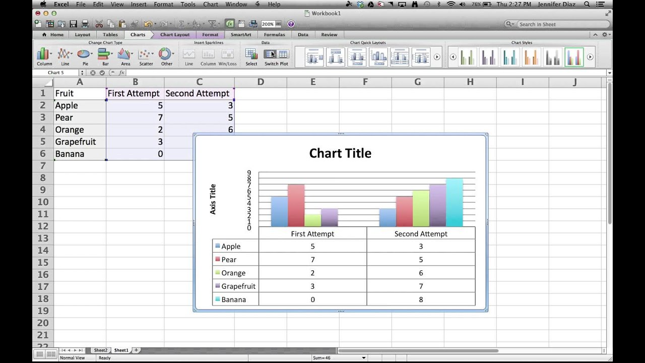 how to draw graph in excel youtube