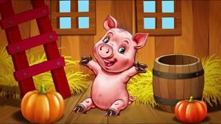 Учим звуки животных на ферме в стихах видео для детей