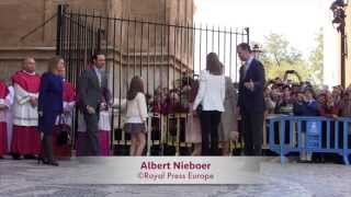 150405 Spanish Royals go to Easter Service at Mallorca