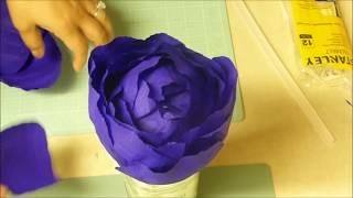 Flor Gigante en Crepe - Big Flower  | Luzka's Creations ✿