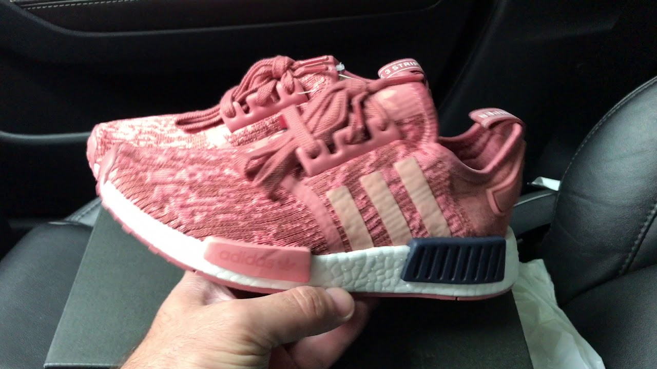 776331b94 Adidas NMD R1 Primeknit Raw Pink sneakers - YouTube