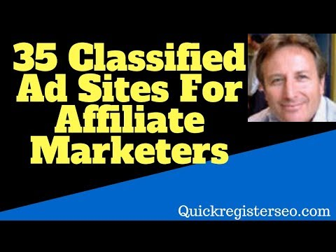 List Of 35 Classified Ad Sites For Affiliate Marketers
