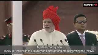 Narendra Modi First Independence Day Speech with English Subtitles