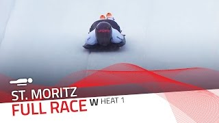 St. Moritz | BMW IBSF World Cup 2015/2016 - Women's Skeleton Heat 1 | IBSF Official
