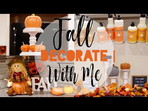 FALL DECORATE WITH ME 2019 || FALL DECOR IDEAS || TRADITIONAL COLORS
