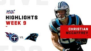 Christian McCaffrey Scores the Hat Trick | 2019 NFL Highlights