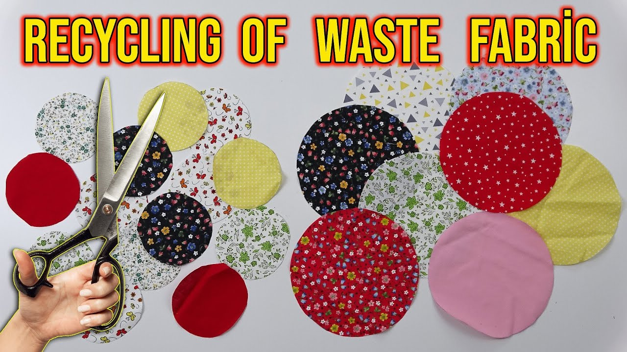 WHY DID I CUT CIRCLES FROM LEFTOVER FABRICS? Recycling Of Waste Fabrics / Evaluating Sewing Waste