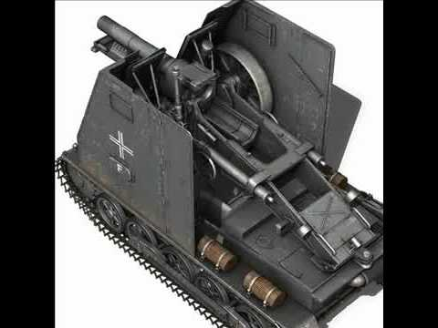 3D Model SD.KFZ 101 Sturmpanzer Bison