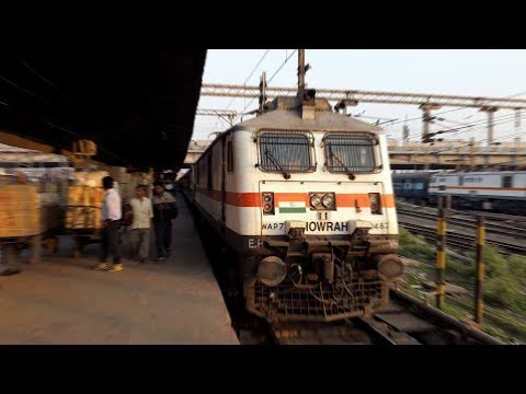 Howrah Rajdhani Express Surprise Overtakes, Parallel Actions & Crossings - Full Journey compilation