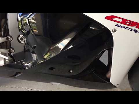 Honda CBR600RR Oil Change And Flush