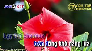 Hỏi Anh Hỏi EM ( Tone Nam ) | karaoke Cầu Tre TG