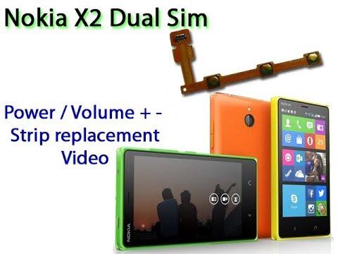 Nokia X2 Dual Sim Power / Volume Strip Replacement - Solve Power/volume Button Problem
