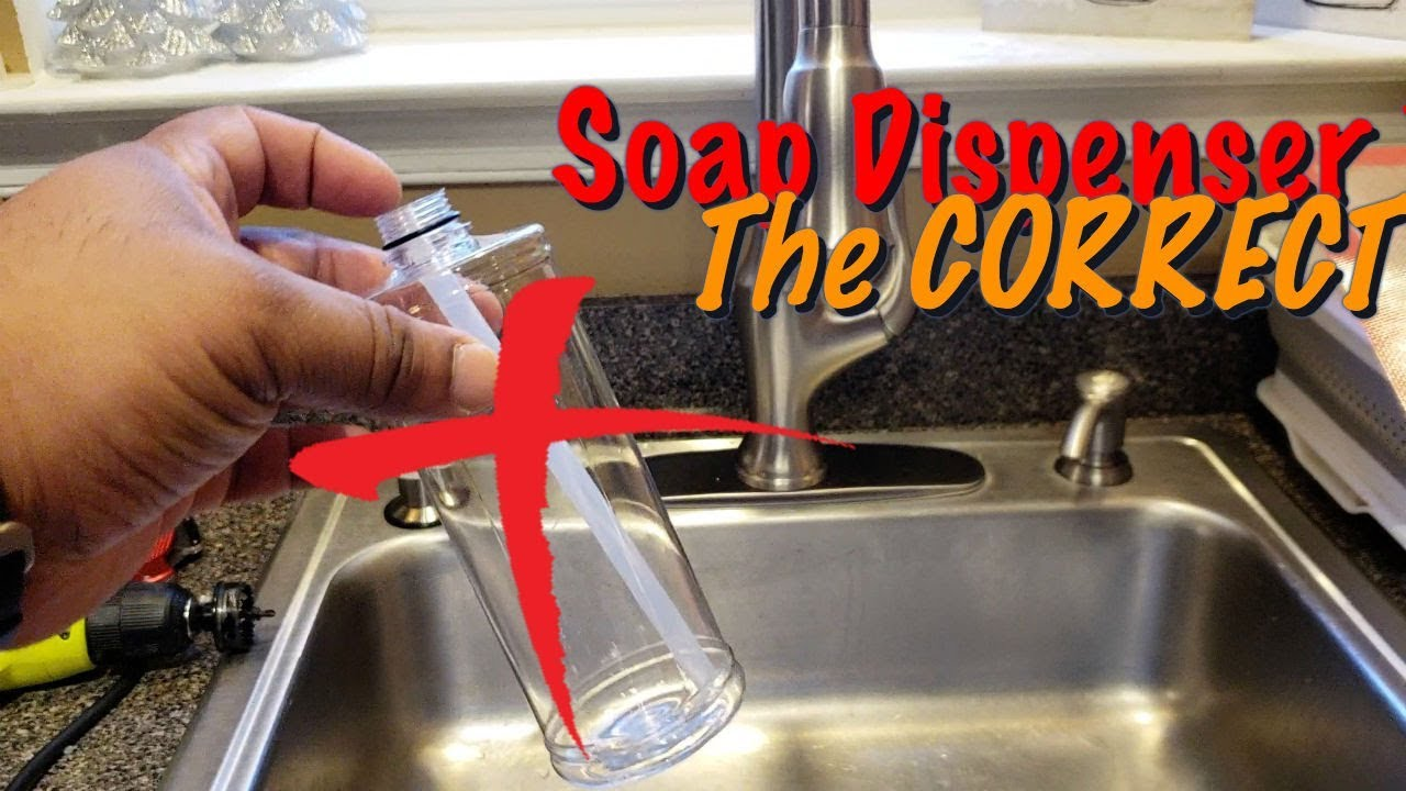 Kitchen Sink Soap Dispenser Trick The Correct Way Youtube