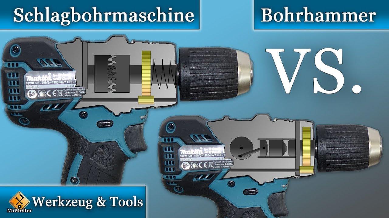 Berühmt Schlagbohrmaschine VS Bohrhammer / Die Unterschiede und worauf AK73