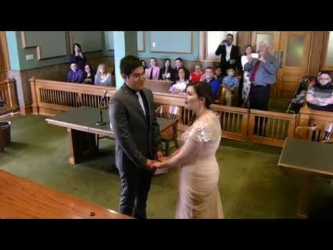 Crystal's Marriage Ceremony at Tarrant County Courthouse 4-10-15
