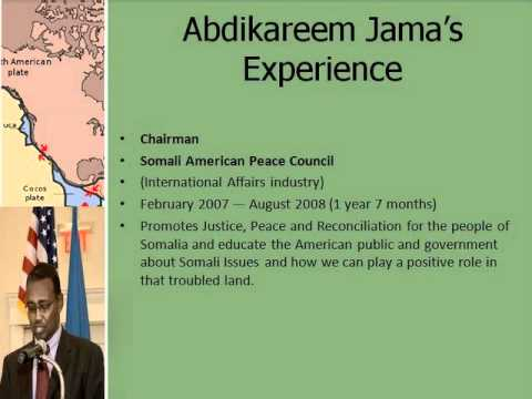Prof: Abdikareem Hassan Jama, The Ministary of Information,Post and Telecommunication !