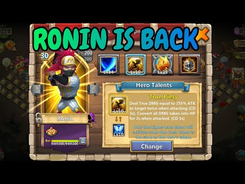 10/10 True Piety Ronin In Action L Castle Clash