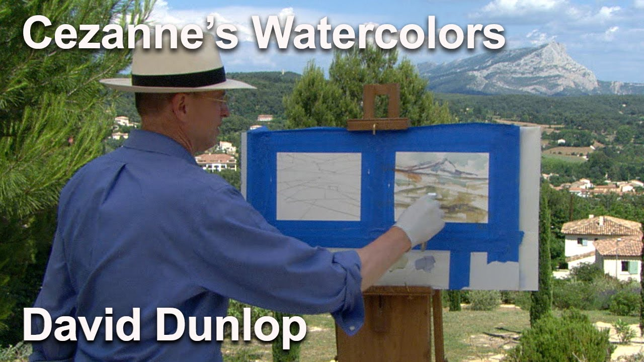 """Watercolor Excerpt from """"Cezanne's Mont Sainte-Victoire"""" - Landscapes Through Time with David Dunlop"""