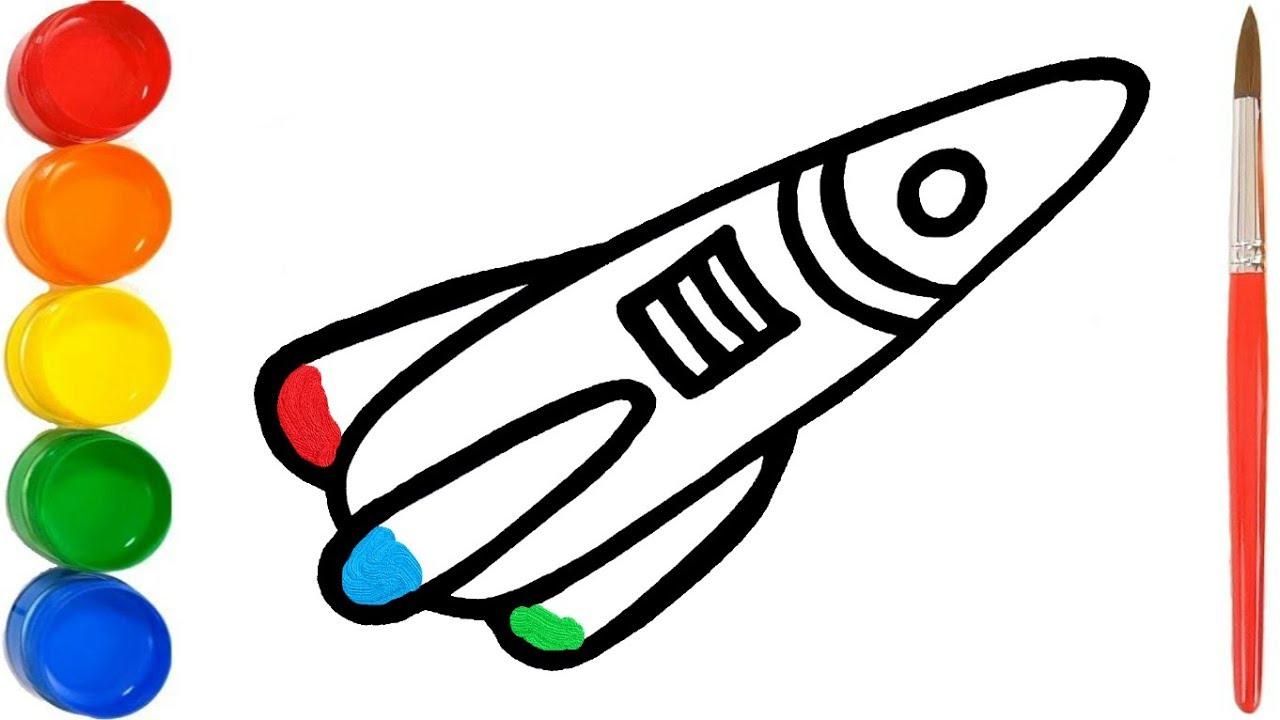 rakete kinder zeichnen  mein malkasten malbuch rakete