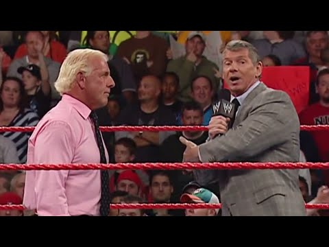 Mr. McMahon gives Ric Flair a career ending ultimatum: Raw, November 26, 2007