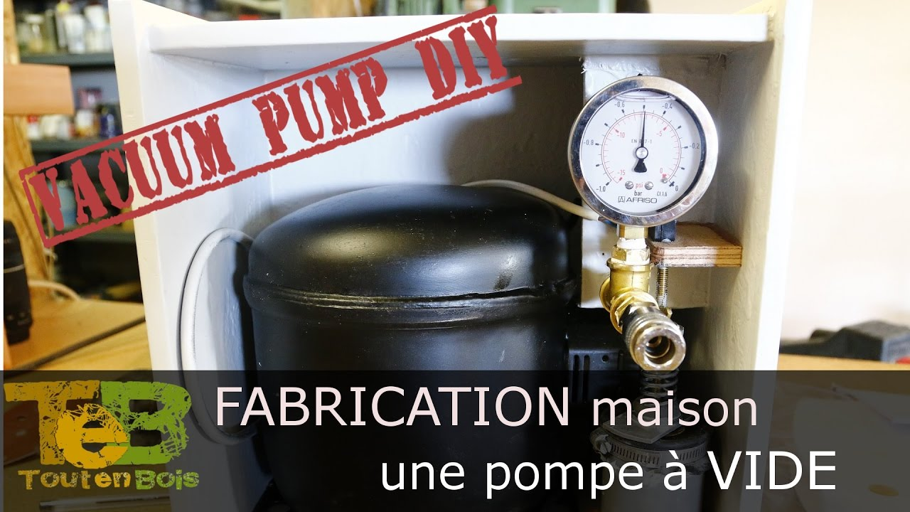fabrication maison d 39 une pompe vide how to make a vacuum pump from a old refrigerator. Black Bedroom Furniture Sets. Home Design Ideas