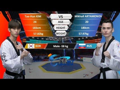M-58kg Semifinal | Mikhail Artamonov (RUS)  VS  Taehun Kim (KOR) | WT Grand Slam Finals