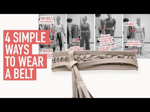 4 Simple Ways To Wear A Belt   ADA Collection