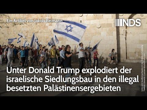 Unter Donald Trump explodiert israelischer Siedlungsbau in illegal besetzten Palästinensergebieten