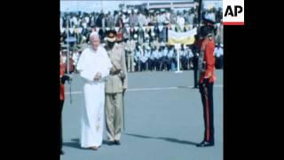 SYND 8 5 80 POPE JOHN PAUL II ARRIVES IN KENYA