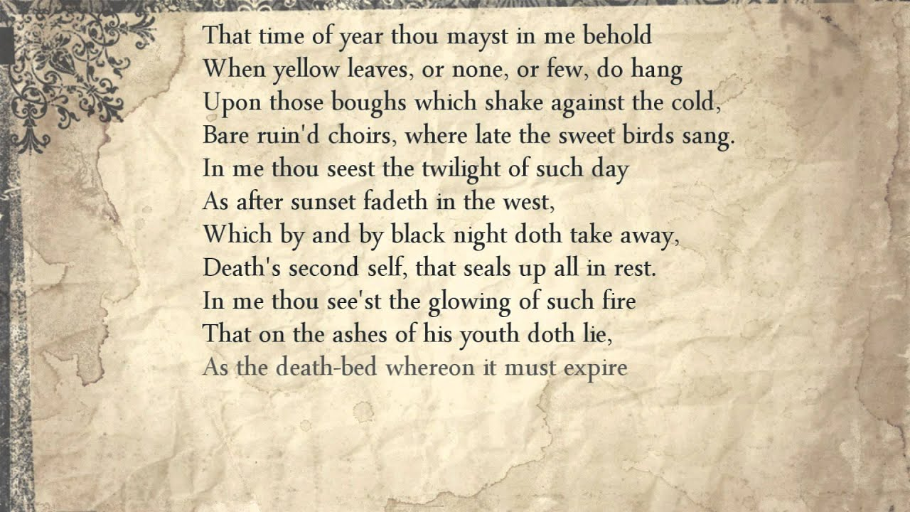 William Shakespeare And A Summary of Sonnet 73