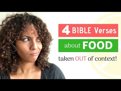 4 misunderstood Bible verses about food | The Bible Diet