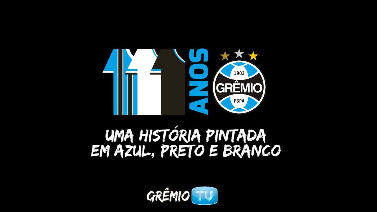 521ac962289ee Grêmio 111 anos - Uma história em Azul