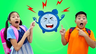 Late for School Song | Wendy & Alex Pretend Play Nursery Rhymes & Kids Songs | Toys and Colors Song