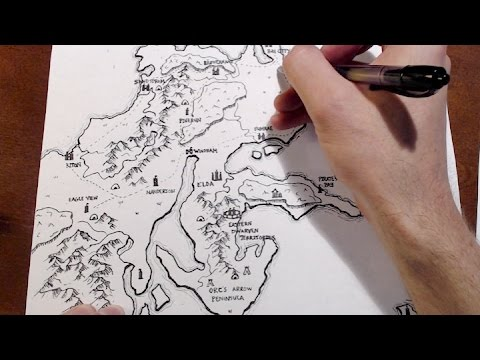 Drawing a D&D World Map - From Start to Finish - YouTube