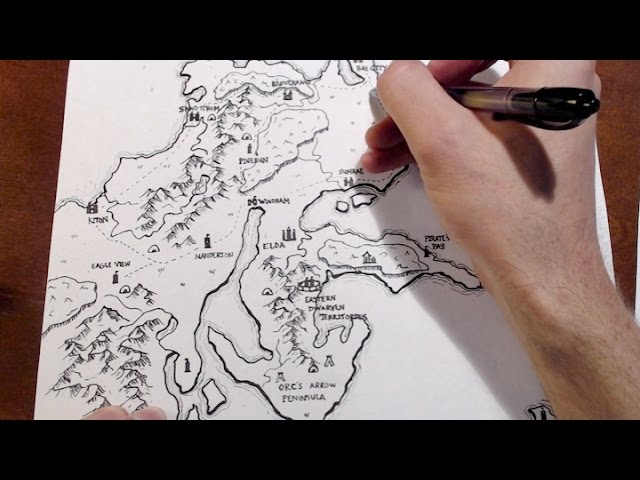 How To Make A D&D World Map Drawing a D&D World Map   From Start to Finish   YouTube
