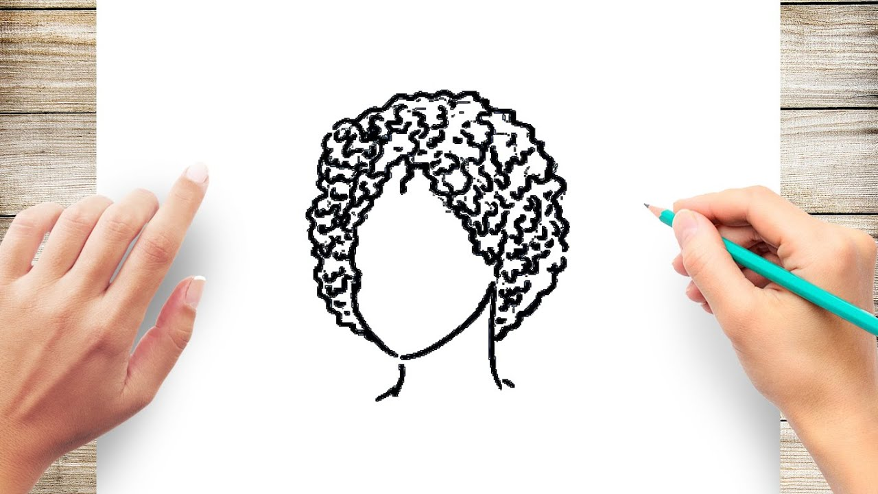 How To Draw Short Curly Hair Step By Step Youtube
