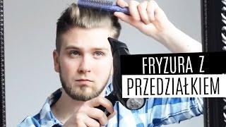 Układanie męskich włosów - fryzura z odcięciem (z przedziałkiem) + tricki