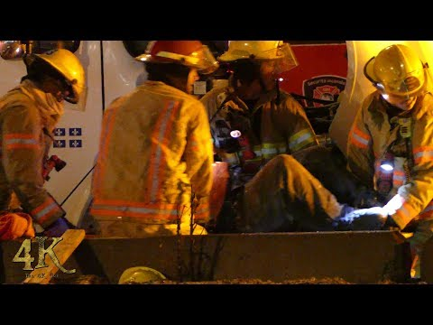 Dorval: Accident majeur camion MTQ / Drunk driver kills MTQ road worker 2-23-2018