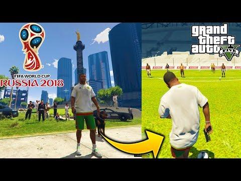 Franklin Y Chop Se Van Al Mundial De Russia 2018 A Jugar Futbol Y Celebran Victoria De Mexico GTA 5