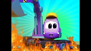Truck videos for kids -  The EXCAVATOR accidentally causes a FIRE AT THE PARK - Super Truck !