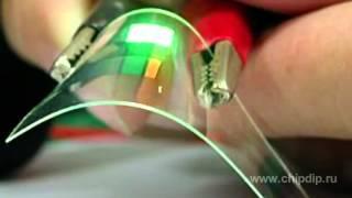 OLED органические светодиоды(Российские специалисты (ЧИП И ДИП) делятся своими знаниями. Довольно популярно объяснено в видеоуроке что..., 2012-08-23T04:33:18.000Z)