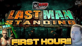 FIRST HOUR OF LAST MAN STANDING! TOP 100 GAMEPLAY!! | WWE SuperCard S4