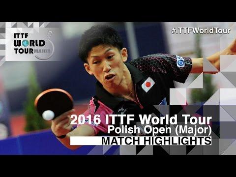 2016 Polish Open Highlights: Jun Mizutani vs Maharu Yoshimura (1/2)