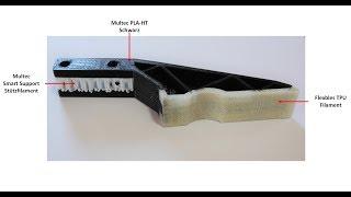 Multirap 4-Fach-Drucker Timelapse eines Multi-Material-Bauteils