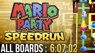 Mario Party All Boards Speedrun (Hard) in 6:07:02