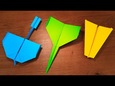 How To Make 5 EASY Paper Airplanes That FLY FAR | PPO