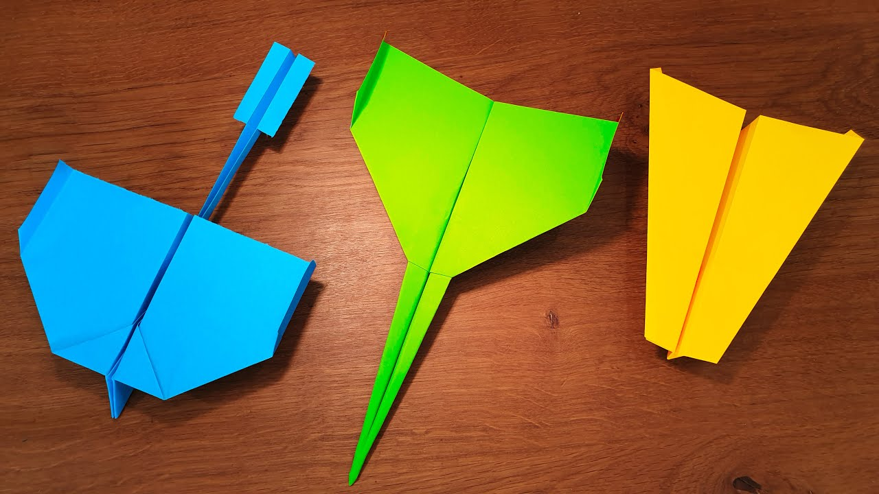 Amazing flying paper crafts that you can easily make