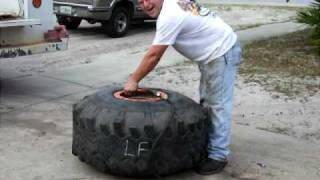 tire mounting with fire