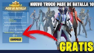 THE NEW BUG TO GET BATTLE PASS 10 FREE in FORTNITE!