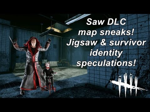 Dead By Daylight| Saw DLC map sneaks! Jigsaw & survivor identity speculation!